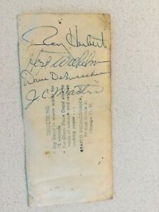 1963 CHICAGO WHITE SOX Autographed Decal - HOFers Hoyt Wilhelm, Dave DeBusschere
