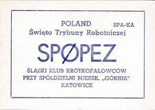 X230 Carte QSL Radio Amateur Opérateur SP0PEZ de Swieto Trybu a KATOWICE Pologne