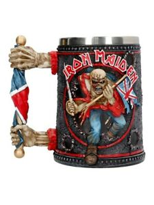 Iron Maiden Drinking Glass Eddie Tankard Grey 13x15x9.5cm