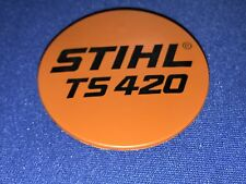 OEM Stihl TS420 Model Plate 4238 967 1501 concrete saw recoil badge
