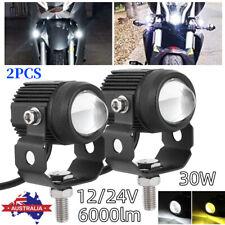 2pcs LED Motorcycle Headlight 30w Fog Spot Lights Waterproof Motorbike Lamp Aus