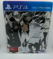 Persona 5 - Sony PS4 - Steelbook Edition - Like New VGC Mint game disc AUS