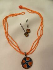 Cesca Collection Jewelry-Earrings & Necklace - Pretty New In Box 3 Pc. Set Coco