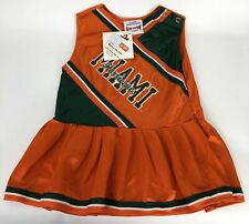 University of Miami Hurricanes Cheerleader Dress Baby 24 Mos Officially Licensed