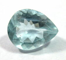 Natural Aquamarine Loose Gemstone 11.7X9.4mm Faceted Pear Cut S117
