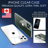 Soft Clear Case For iPhone 11 Pro Max SE XR Thin TPU Cover Transparent Silicone