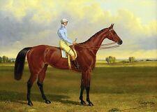 "John F. Herring, Horse Racing, Jockey, antique Decor 16""x11"" CANVAS ART"