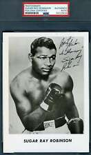 Sugar Ray Robinson PSA DNA Coa Autograph Hand Signed 5x7 Photo