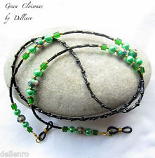 ✫ Verde Cloisonne ✫ Beaded Anteojo Gafas Gafas Cadena Porta Cable