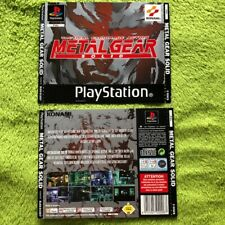 PS1 - Metal Gear Solid (Front- & Backcover)