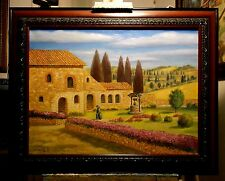 ABBEY CHURCH IN TUSCANY, ITALY original oil painting by Richard R. Nervig