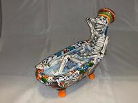 Mexican Day of the Dead Talavera Catrina Bathtub Figure Folk Art Pottery Ceramic