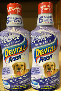 2X Water Additive For Dogs Dental Fresh Advanced Plaque & Tartar Dental Care 8oz