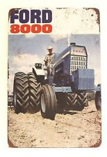 New Ford 8000 Tractors Tin Metal Sign Vintage Style Ad Farm Equipment