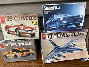 4 Vintage Model Kits In Lot Corvette Olds Camaro Falcon New Old Lot