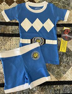 Blue Power Ranger Pajamas Set Toddler 3T Boys Or Girls, Tight Fit, Short Sleeve