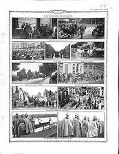 Parade Feldgrau Deutsches Heer Belgique Liège Gand Cyclistes Termonde 1914 WWI