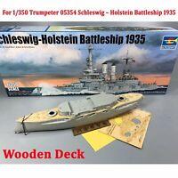 Wooden Deck Set for 1/350 Trumpeter 05354 Schleswig – Holstein Battleship 1935