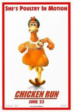 Chicken Run Movie Poster 2 Sided Original Poultry In Motion 27x40 Mel Gibson