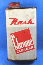 RARE Vintage 1950's Nash Motors Chrome Cleaner Oil  8 ounce Can