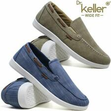 Dr.Keller Robson Mens Touch Fastening Moccasin Charcoal Black Shoes
