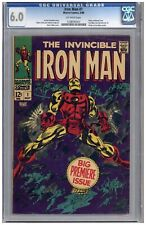 Iron Man  # 1   CGC 6.0   F   Off wht pgs  5/68  Story continued from Iron Man &