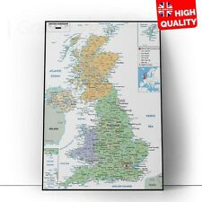 UK Countries Map Educational Wall Chart Poster Print   A5 A4 A3 A2 A1  