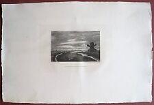 Eau-forte originale, Moulin dans les environs d'Amsterdam, Léopold Lowenstam