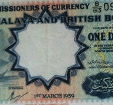 1959 Malaya $1 Thomas B/93 090030  Banknote  EF++