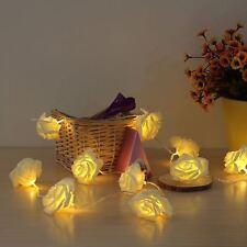 SENTIK 20 blanc chaud DEL String Rose Fleur Guirlande d'intérieur de Noël de Noël