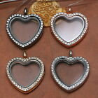 New Living Memory Floating Charm Heart Magnetic Locket Necklace Pendant Jewelry