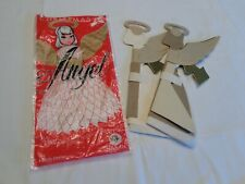 Vintage Beistle Usa Tissue Art Honeycomb 2 Angel Fold Out Decoration In Package
