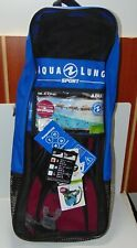 New listing AQUA LUNG 3PC Scuba Dive Set Kit - Snorkel + Fins + Bag - PINK - ADULT TROOPER