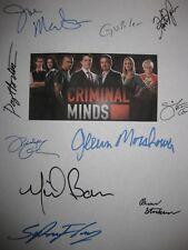 Criminal Minds Haunted Signed TV Script X10 Joe Mantegna Paget Brewster Moore RP