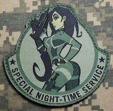 SPECIAL NIGHT-TIME SERVICE USA ARMY TACTICAL US MILITARY MORALE ACU HOOK PATCH