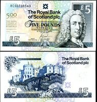 SCOTLAND 5 POUNDS 2005 500th P 364 ROYAL BANK AU-UNC