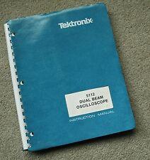 Tektronix 5112 Scope Original Service Manual all Schematic, Parts: 070-2136-00