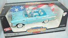 ERTL 1/18 1957 Chevy Bel-Air Convertible Larkspur BLUE #7480 American Muscle '57