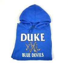 Vintage Fruit of the Loom Adult XL Duke Blue Devils Raglan Hoodie Sweatshirt