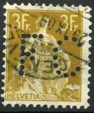 "SWITZERLAND - SVIZZERA - 1908 - Allegoria dell'""Helvetia"" - 3 f. bistro - PERFIN"