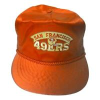NFL Collector 1980's Vintage San Francisco 49ers Football Hat Cap Otto Brand
