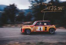 Jean Ragnotti foto firmada de mano 12x8 Renault Rally 16.