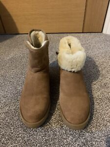 UGG Kristin Wedge Boot Chesnut Size 4.5 RRP £160