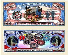 Every Veteran Counts Million Dollar Novelty Money