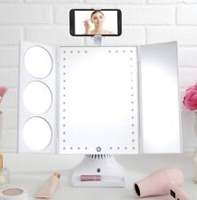Thinkspace GloTech LED Bluetooth Makeup Vanity Mirror with Phone Attachment