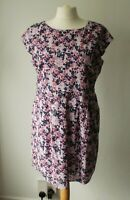 Ditsy Print Broderie Anglaise, Pure Cotton Lined Summer Day Dress With Pockets