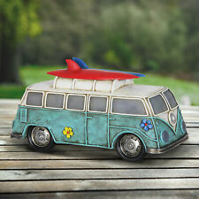 Miniature Dollhouse FAIRY GARDEN - Solar Retro Bus - Accessories