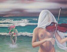 Lithografie Bernard Stephan Moldawan - Hommage  Magritte