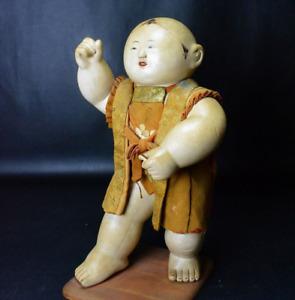 """Antique Japanese Large Gosho Doll 16"""" Edo Era"""