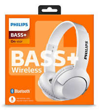 Philips SHB3075 Extra BASS+ Bluetooth Wireless OnEar Headphones with Mic - White